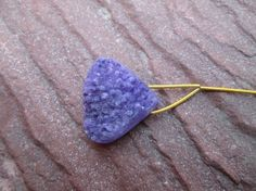 At Factory Price,Uniqe Rare Purple Agate Druzy pear,Focal bead,polishing both side, (D0809) by JaiVyavsayBeads on Etsy