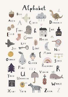 Alphabet Print Nursery Print Nursery Wall Art