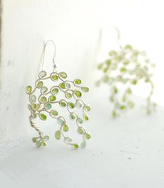 Weeping Willow Tree Earrings Tree of Life by TaylorsEclectic