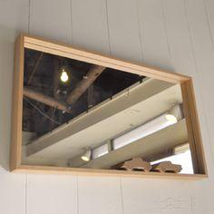 壁掛け鏡・ミラー(タモ)40x70cm | 木、鉄、革など本物素材の家具と雑貨通販 | イヌイットファニチュアオンラインショップ