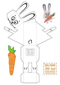 Игрушки из бумаги.. Обсуждение на LiveInternet - Российский Сервис Онлайн-Дневников 3d Paper Crafts, Paper Toys, Diy And Crafts, Crafts For Kids, Printable Numbers, Paper Animals, Spring Theme, Easter Printables, Bunny Crafts