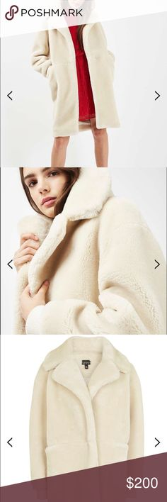Faux fur coat Beautiful warm and cozy brand new long faux fur coat with tag. Never been worn Topshop Other