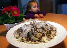 Makové slíže • recept • bonvivani.sk Oatmeal, Pudding, Cooking Recipes, Beef, Breakfast, Desserts, Food, Bakken, The Oatmeal