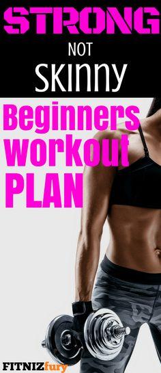 Strong not Skinny beginners workout plan #resistancetraining #strengthtraining #workoutplan #beginnerworkoutplan #weightliftingwomen #strongnotskinny #resistancetrainingforwomen