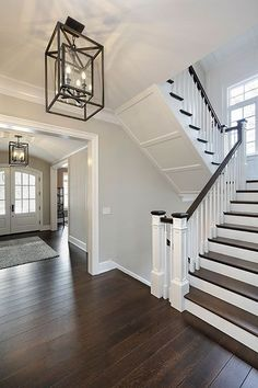 Foyer Stairs - SMART Builders Fine Homes Renovations SMART Group Custom Home Builders New Construction Home Builders Professional Remodeling Dream Home Design, Home Interior Design, Custom Home Builders, Custom Homes, Custom Home Designs, Staircase Remodel, Staircase Design, Foyer Staircase, White Staircase