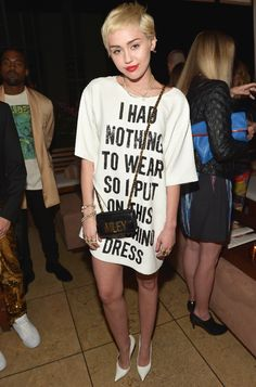 Miley Cyrus Causes Commotion (Again) with a Cheeky Statement Dress #InStyle   35      18