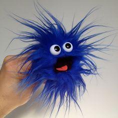 Popcorn-Monster Blue Caracao von banjopuppets auf Etsy