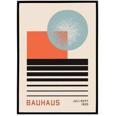 Abstract Bauhaus Poster   Iconic Posters, Original Art Prints — HypeSheriff