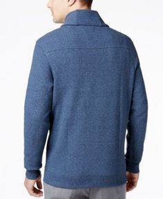 Tasso Elba Men's Big and Tall Heather Shawl-Collar Sweater, Only at Macy's - Orange 2XLT