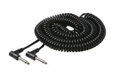 "Steren 25' 1/4"" Coiled Guitar Cable 25 ft. by Steren. $9.13. 20 ft. coiled guitar cable features 90° right angle 1/4"" plugs with molded strain relief."