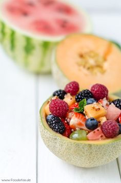 Obstsalat mit knusprigem Quinoa von den [Foodistas] - http://foodistas.de/