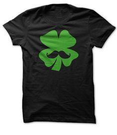 Lucky 'Stache. St Patricks Shirts Check this shirt now: http://www.sunfrogshirts.com/lucky-stache-black-green.html?53507