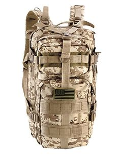 IMPACK Sport Outdoor Military Rucksacks Digital Camo Tactical Military  Style Molle Backpack Camping Hiking Trekking Back e761b0ac8d014