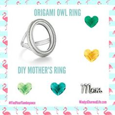Create a special Mother's Ring with the new Origami Owl ring. See more at www.WindysCharmedLife.com/VIP.