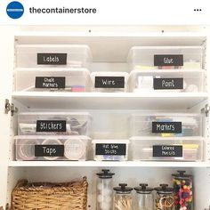 Home Organization Hacks And How To Declutter Your Space Craft Room Storage, Art Supplies Storage, Arts And Crafts Storage, Arts And Crafts For Teens, Art And Craft Videos, Arts And Crafts House, Arts And Crafts Projects, Arts And Crafts Supplies, Storage Boxes