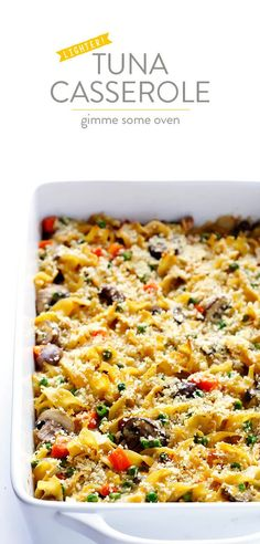 Gimme Some Oven Lighter Tuna Casserole Tuna Casserole Recipes, Noodle Casserole, Tuna Recipes, Seafood Recipes, Dinner Recipes, Cooking Recipes, Healthy Recipes, Tuna Casserole Healthy, Yummy Recipes