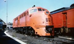 New Haven Railroad PP716 Alco DL109 locomotive portable power plant is seen in the yard at Boston, Massachusetts, late 1950's, Mac Seabree Collection