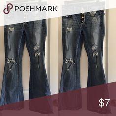 American Eagle Boho Artist Jeans AE Boho Artist Super Stretch Jeans American Eagle Outfitters Jeans Flare & Wide Leg