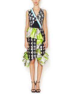Lara Silk Cut-Out Dress from Designer Silk Dresses on Gilt