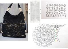 Lots of Crochet Purse Patterns and mobile purse patterns! Mochila Crochet, Crochet Tote, Crochet Handbags, Crochet Purses, Crochet Yarn, Crochet Purse Patterns, Macrame Patterns, Linen Bag, Crochet Projects