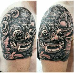 Barong mask tattoo