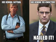 Lt. Joe Kenda and actor Carl Marino who represents him when he was younger (from TV show Homicide Hunter-Lt. Joe Kenda)