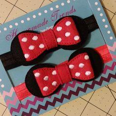 Ratón diadema-Polka Dot ratón arco ratón pelo por HomemadeTrends