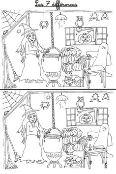 Theme Halloween, Halloween Decorations For Kids, Halloween Crafts For Kids, Halloween Games, Halloween Activities, Cute Halloween, Holidays Halloween, Las Brujas De Roald Dahl, Halloween Worksheets
