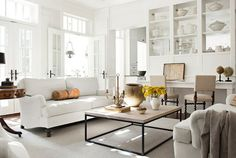 love the coffee table, drum table in corner and bar stools