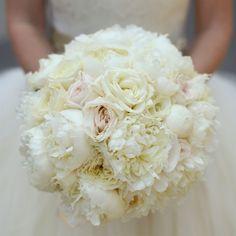 Classic white bridal bouquet | Clark+Walker Studio | Flowers: David Michael Schmidt