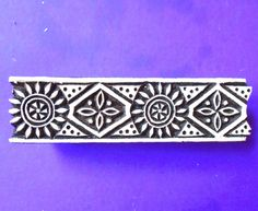 Border Stamp Tribal Wood  Hand Carved Indian Print Block by PrintBlockStamps on Etsy