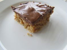 No Bake Peanut Butter and OatmealBars.  Semi-nutruitional.  These bars are so super quick to make, take few ingredients and are perfect for a last minute dessert.