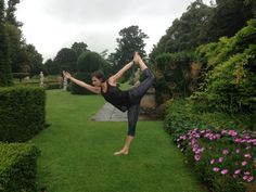 yoga helps to connect with nature. dance pose