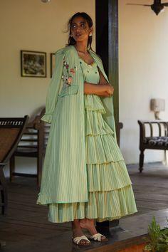 Indian Designer Outfits, Indian Outfits, Designer Dresses, Stylish Dresses For Girls, Casual Dresses, Fashion Dresses, Dresses Dresses, Cotton Dresses, Bridal Dresses