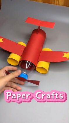 Paper Crafts Origami, Paper Crafts For Kids, Easy Crafts For Kids, Craft Activities For Kids, Diy Arts And Crafts, Toddler Crafts, Creative Crafts, Preschool Crafts, Diy For Kids