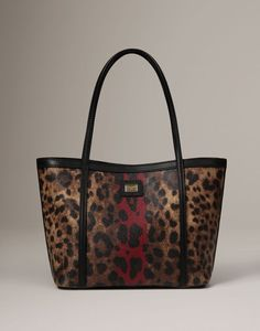 Leopard Print Escape Shopper by Dolce & Gabbana