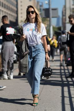 New-York- #NYFW Ms Duma and that famous google shirt