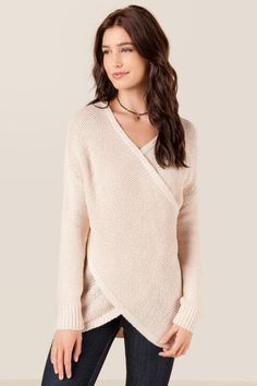 Parker Draped Surplus Sweater