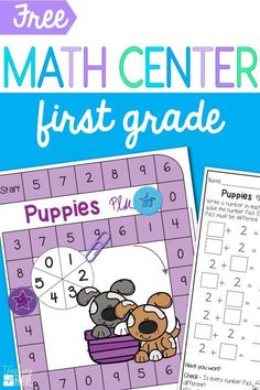 First grade math centers are perfect for creating differentiated work stations that cover the first grade math standards. Grab this first grade math center that will give your students lots of number fact practice.  #mathcenters #firstgrademathcenters