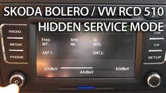 #Skoda #Bolero and #VW RCD 510 hidden service menu. #cars #radio #service #maintenance