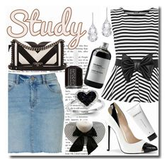 """""""Study Date"""" by emmy-124fashions ❤ liked on Polyvore featuring WearAll, Chanel, Kevin Jewelers, Plukka, Sort of Coal, Essie and study"""