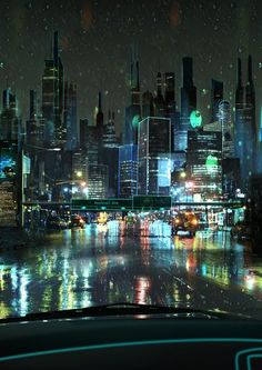 Future city artwork, #cyberpunk #scifi inspiration