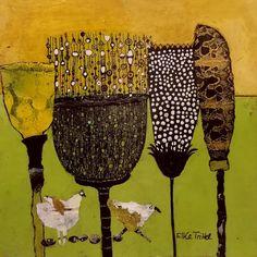 '' 🏃♀️ For Sale via Dm 🧚♂️ INKDRAWING on Acrylic background on paper ☀️ size 🌿 Three steps ahead. Folk Art Flowers, Flower Art, Paper Collage Art, Paper Art, Texture Art, Whimsical Art, Bird Art, Unique Art, Art Lessons