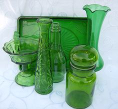 Green Glass Collection Wedding Party Holiday by PerfectlyGoodStuff, $55.00