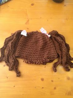 "MandaLynn's Crochet Treasures : Baby ""Hair"" Hat Crimpy Pig Tails"