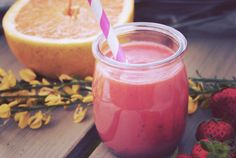 Smoothie fraise pamplemousse par la goutte noire #battlefood