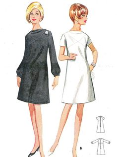1960s Dress Pattern Butterkck 4483 Mod A Line Day by paneenjerez, $10.00