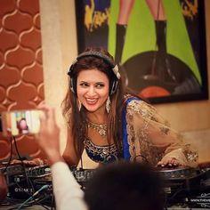 The Smile & Happiness on her face Says it all..  Keep Smiling @divyankatripathi  U Deserves it All..  Btw DJ wale Babu Mera Gaana Baja Do 😉😉😍😍😍😘😘😘 #WeddingDiaries #DiVekForever #HappyTimesAreHere #RelationshipGoals