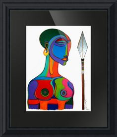 """""""African Warrior"""" by Bryan(Masud) McDowell, Brooklyn,New York //  // Imagekind.com -- Buy stunning fine art prints, framed prints and canvas prints directly from independent working artists and photographers."""