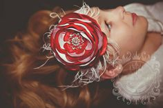 Check out this item in my Etsy shop https://www.etsy.com/listing/206398024/red-and-white-satin-singed-flower